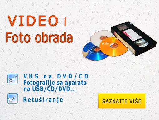prebacivanje VHS na DVD Novi Sad